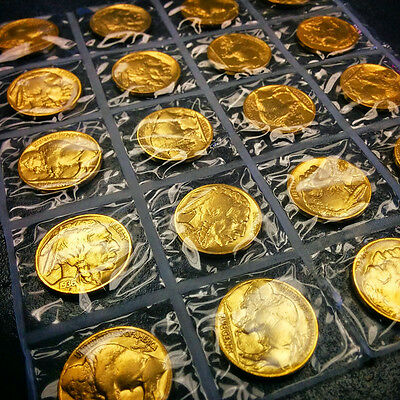 GOLD BUFFALO NICKEL - Pure 24K GOLD PLATED Authentic Buffalo Indian Head Nickel