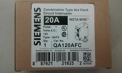 NEW 10 x SIEMENS QA120AFC 20 AMP type QAF2 COMBINATION ARC FAULT  ** INSTA-WIRE