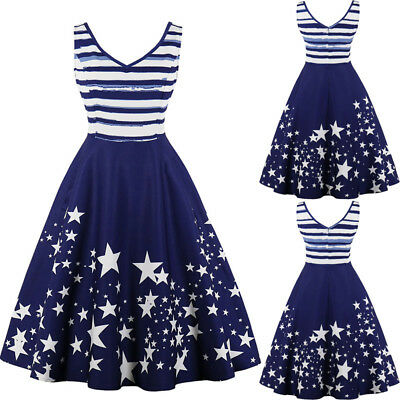 Womens Plus Size 1950s 60s Vintage Stars Rockabilly Cocktail Party Swing Dress