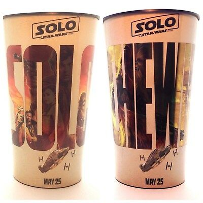 New Solo: A Star Wars Story Solo and Chewie 44oz Plastic Movie Theater Cups