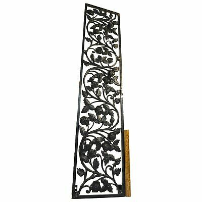 """Salvaged CAST IRON CLIMBING ROSES GATE INSERT 44"""" Vent/Grate Cover WINDOW PANEL+"""