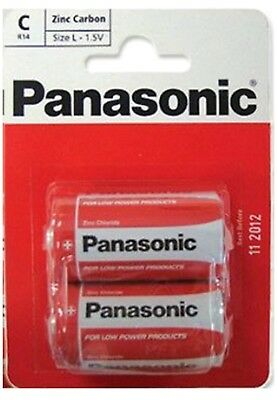 Pack Of Panasonic C R14 Zinc Carbon 1.5v Batteries Alkaline Power