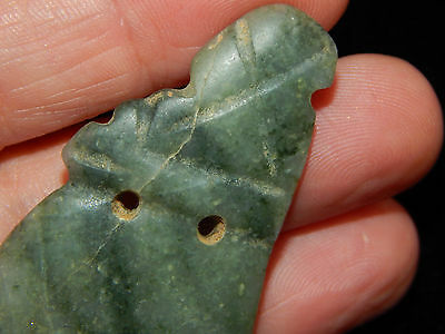Pre-Columbian Avian Pendant, Rare Jade Pendant, Costa Rica, Authentic