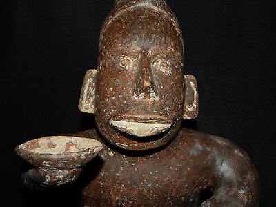 Pre-Columbian Jalisco Effigy Seated Figure, Authentic, Excellent Condition