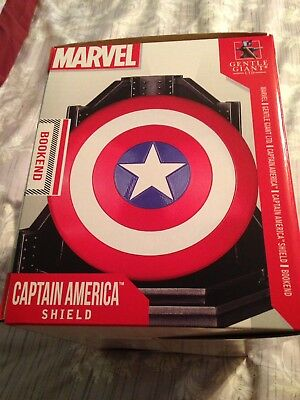 Captain America Bookend Shield Mib Low Number 17 Of 750 Best Price On Ebay!!