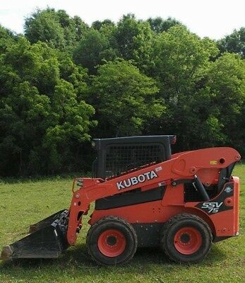 2016 KUBOTA SSV75 SKID STEER LOADER w/BUCKET - LOW HOURS - Diesel- 2 SPEED