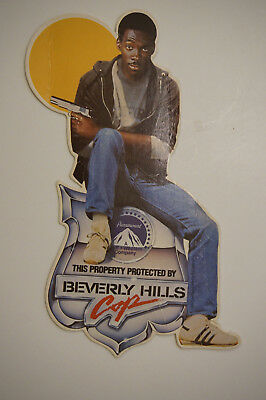 Beverly Hills Cop Eddie Murphy  property protected by  promo counter card 1984