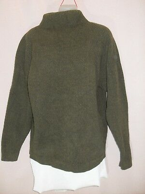 "1980's Vintage ""Country Road"" Ribbed Jumper with High Neck."