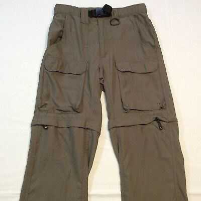 Boy Scouts of America BSA Green Conv. Switchbacks Classic Pants Boys Youth XS