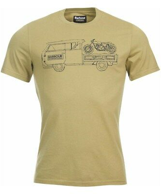 new barbour international trucker mens M tee/t-shirt motorcycle olive