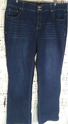 Lane Bryant 22 LONG Jeans Tighter Tummy Technology Bootcut Stretch Dark Wash