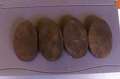 Bakelite made in USA 1950' 1 (ONE) black oval 64x39x9mm 28 gr for cameo carving