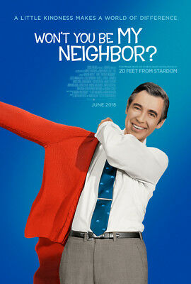 WON'T YOU BE MY NEIGHBOR? 2018 27x40 ORIGINAL DOUBLE SIDED LARGE MOVIE POSTER