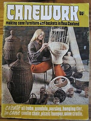 CANEWORK Making Cane Furniture & Baskets in New Zealand Instructions 1972