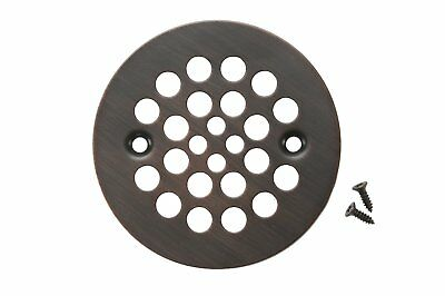Premier Copper Products D-415ORB 4.25-Inch Round Shower Drain Cover, Oil Rubbed