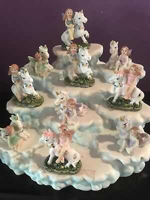 10 fairy unicorns on cloud display unicorn craft decor cake decorations party
