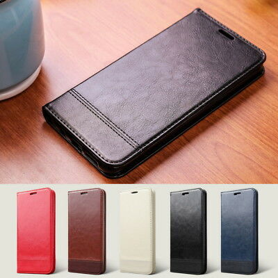 Luxury Genuine Leather Wallet Case Magnetic Flip Cover For iPhone X 8 7 Plus 6