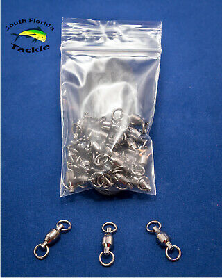 Ball Bearing Fishing Swivels Solid Ring - #3 #4 #5 - 25 or 50 pack