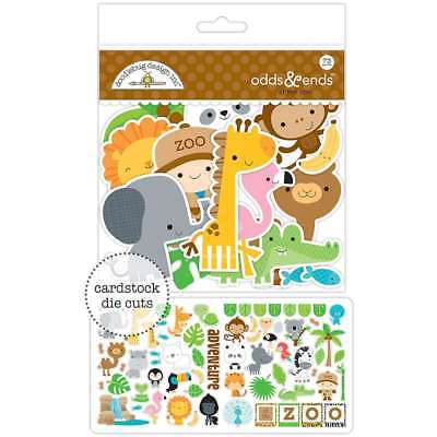 Doodlebug Odds & Ends Die-Cuts At The Zoo 842715056008