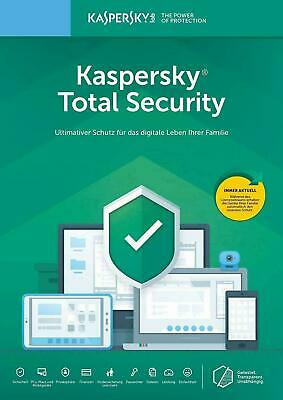 Kaspersky Total Security 2020 / 2019 3 PC / Geräte 1 Jahr Vollversion Key
