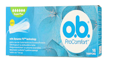 O.B. Pro Comfort Tampons SUPER PLUS Heavy Flow Days Silk touch Cover  16 Pieces