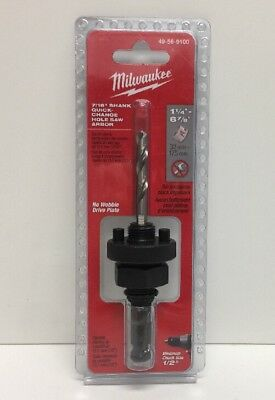(New) Milwaukee 49-56-9100 7/16-Inch Hole Saw Arbor