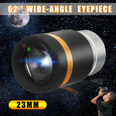 UK HD 1.25'' 23mm Wide Angle 62° Aspheric Eyepieces For Astronomic Telescopes