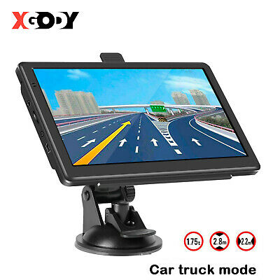 "Xgody 7"" 8Gb Car Truck Hgv Lgv Gps Sat Nav Navigation + Free World Maps Updates"