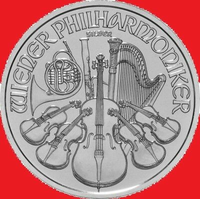 2018 1oz Silver Austrian Philharmonic 1 Ounce Bullion Coin