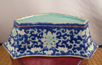 Antique Chinese Porcelain Qing Sweet Meat Dish Bowl Famille Verte Tongzhi 1862 A