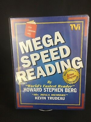 Mega speed reading howard stephen berg kevin trudeau 6 cassettesvhs mega speed reading by howard berg and kevin trudeau audio book new sealed malvernweather Image collections
