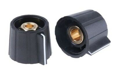 Sifam Collet Knob Dia. 21.5mm Shaft 6.35mm - Pack of 2