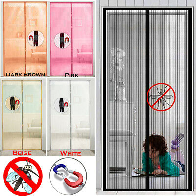 Magic Door Mesh Magnetic Curtain Hands Free Net Screen Fly Mosquito Insects Bugs