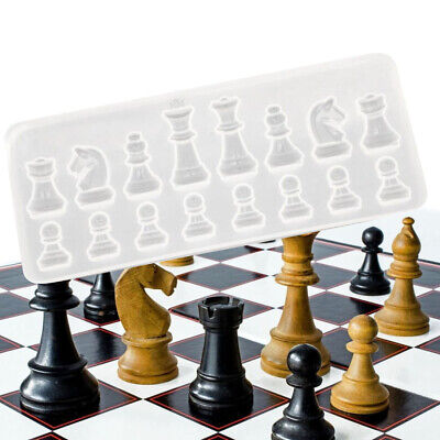 Crystal Chess Silicone Mold for DIY Ornament Resin Casting Craft Mould Tool New