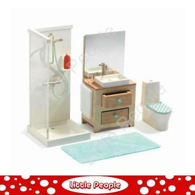 Djeco Modern Doll House Furniture Set   The Bathroom