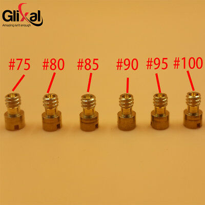 M6 x 0.75 JOG 49cc 50cc 72cc Carburetor Mikuni VM 11/22 Main Jet Set (6 pcs/lot)