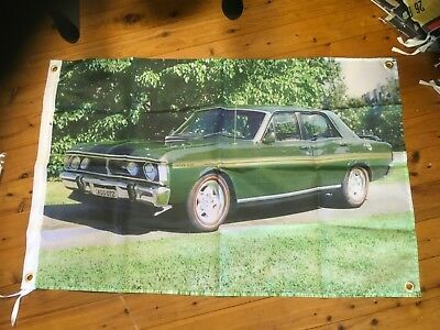 Banner poster 351 ford gto falcon xy xw man cave sign  bar flag poolroom holden