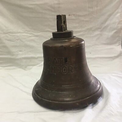 "Large Ship Bell made of Brass. ""Beate Oldendorff"" Made in Germany."