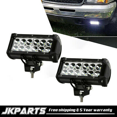 2PCS 7INCH 36W Floo LED WORK LIGHT BAR OFFROAD ATV FOG TRUCK 4WD 12V VS FLOOD