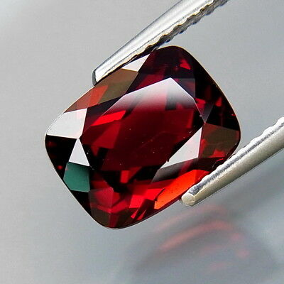3.07Ct.Attractive Color! Natural Red Mozambique Garnet Africa Eye Clean