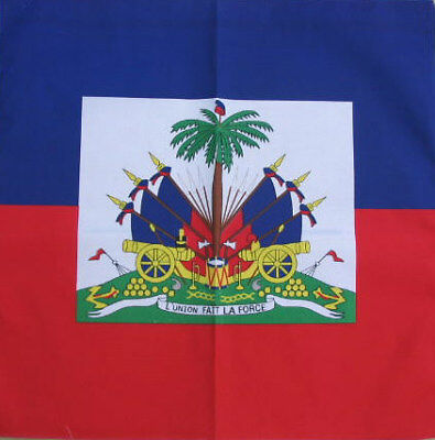 Cotton Haitian Flag Bandana, Head Wrap