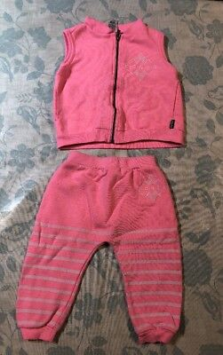 BABY BONDS WARM TRACKIE VEST TOP Sz2And Pants Sz1 Pre Owned