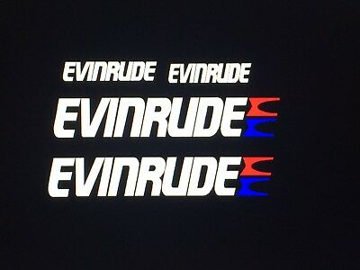 2-15 inch Evinrude flag Outboard decals marine vinyl  with E-TEC 150 decals