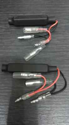 LED BLINKER ADAPTERKABEL MIT WIDERSTAND Harley BMW Triumph etc. Paar
