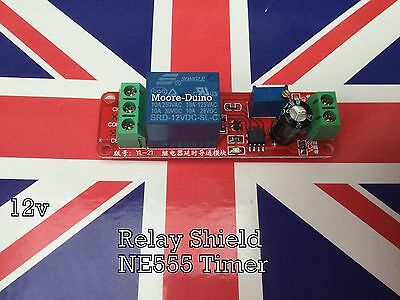 DC 12V Delay Relay Shield NE555 Timer Switch Module 0 - 10 Second Adjustable