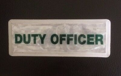 Encapsulated Small DUTY OFFICER Reflective Badge