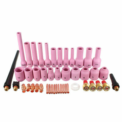Tig Accessories 46 Nozzles Clamping Sleeves Welder Welding Torch Kit Consumables