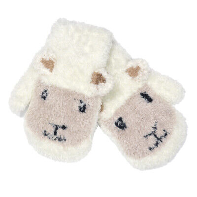 Patrick Francis Ireland Kids Woolly  Sheep Face Mittens, Cream Colour