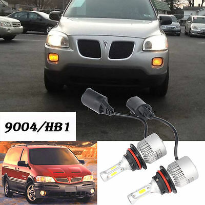 2x 9004 HB1 LED Headlight Conversion Kit High Low Dual Beam 72W 8000LM White