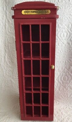 "London Telephone Booth 1930 CD Storage Shelf DR.Who Display 18.5"" Red Tardis"